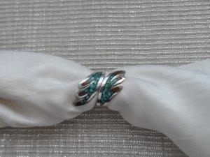 Silver Ring multicolored spandex