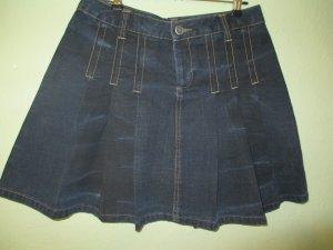Ausgefallener Jeans Falten Rock