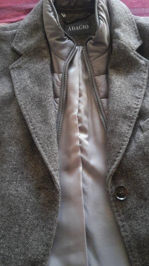 Ausgefallener Mantel in feinem Fischgrätmuster