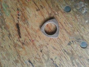 Ausgefallener Ring, Echtsilber, 17mm