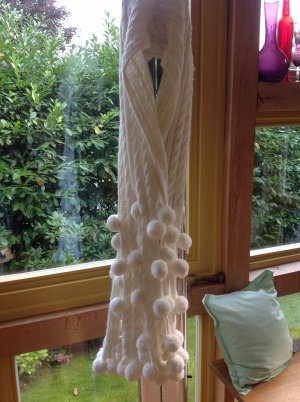 Passigatti Gebreide sjaal wit Acryl