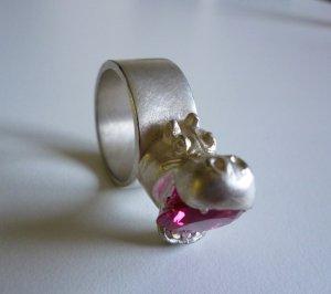 Ausgefallener Silberring