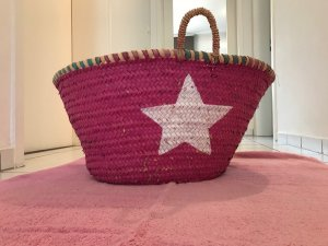 Basket Bag pink-white