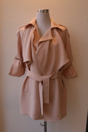 Trenchcoat vieux rose polyester