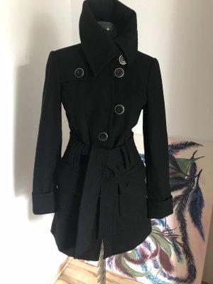 Only Abrigo de lana negro Lana