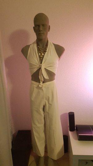Pantalon en lin crème lin