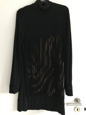 Ausgefallenes Abendkleid, schwarz kurz, Gr 36