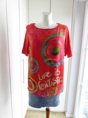 Desigual Camicia a tunica multicolore Cotone