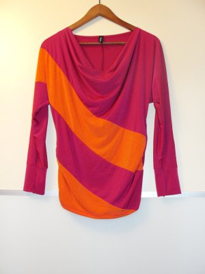 Ausgefallenes Blusenshirt, pink / orange in GR M