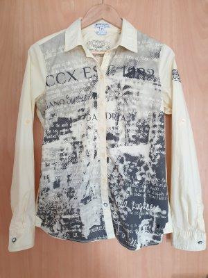 Soccx Shirt met lange mouwen lichtgeel-zwart Katoen