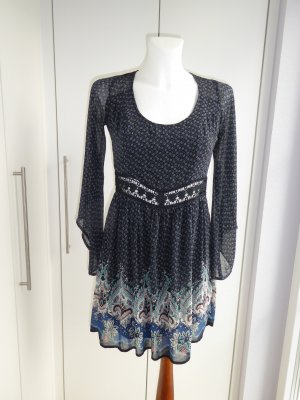 Hollister Babydoll Dress multicolored polyester