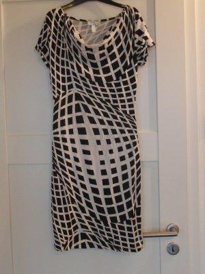 Ausgefallenes Kleid von HEINE, Gr. 34 (36), schwarz-weiß