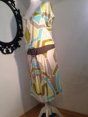 ausgefallenes Kleid von Oui, mehrfarbig, 92% Viskose, Größe 36/38