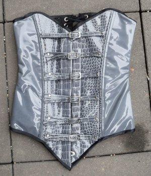 Haut type corsage gris-noir