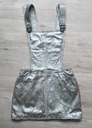 Gianni Versace Leren jurk zilver Leer