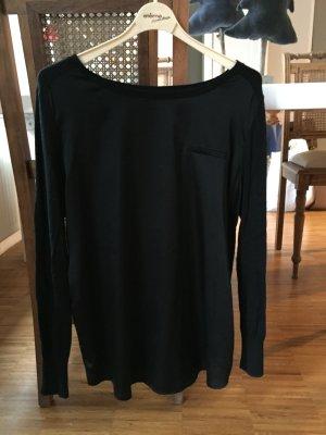 Ausgefallenes Oberteil mit Materialmix von Esprit, schwarz, Gr L
