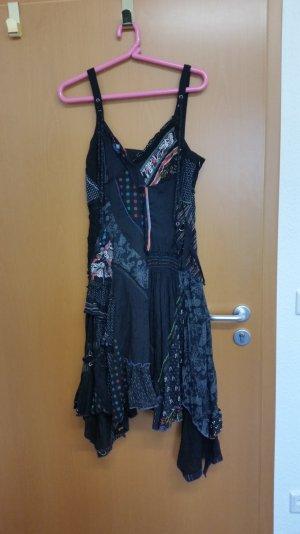 Ausgefallenes Patchwork-Kleid Gr. 38