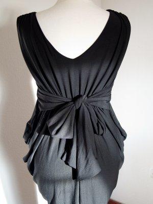Ausgefallenes schwarzes Kleid im Asia schwarz Gr. 36