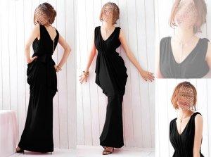 Ausgefallenes schwarzes Kleid im Asia Stil  bzw. Gothik schwarz Gr. 36