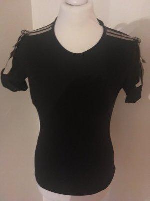 Ausgefallenes Shirt in Schwarz
