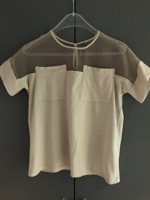 Ausgefallenes T-Shirt mit Organza