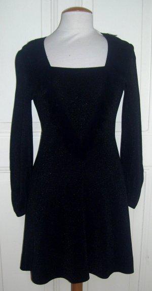 Ausgefallenes Vintage Glitzer Kleid mit Fransen von Bess Art Paris ca. Gr. M Lurex