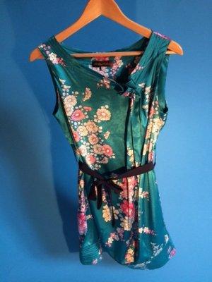Robe à bretelles multicolore polyester