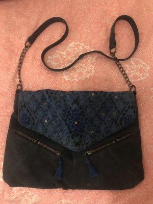 Promod Bandolera azul oscuro-color bronce