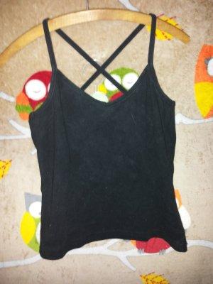 Impuls Off the shoulder top zwart