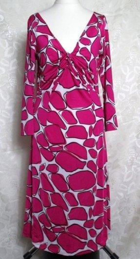 Ausgeschnittenes Kleid Größe 36 Print Stretch