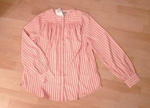 Ausgestellte Bluse - rot weiß - Gr. 38 - NEU! OP 24,99
