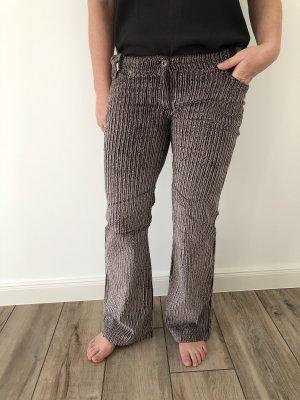 Pantalón de pana marrón claro-marrón tejido mezclado