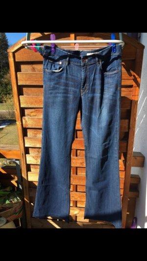 H&M Pantalon pattes d'éléphant bleu