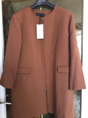 Zara Manteau court brun