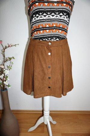 Zara Mini-jupe brun-cognac