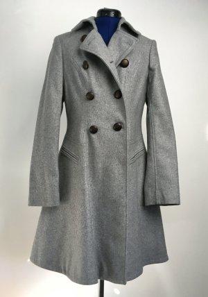 Next Abrigo de lana gris claro-gris