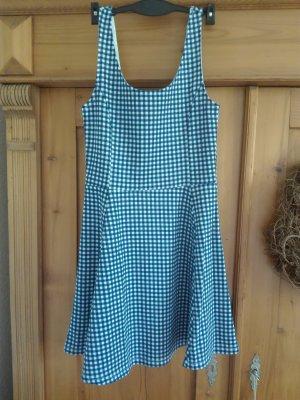 Ausgestelltes Kleid, blau weiß kariert