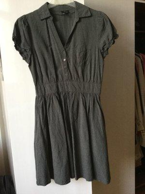 Ausgestelltes Kleid in dunkelgrau - Gr. 38 - 100% Baumwolle