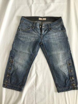 Ausgewaschene, knielange Jeans von Fornarina