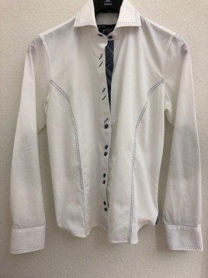 Außergewöhnliche Bluse von GAZOIL mit vielen Details, Gr 40 weiß