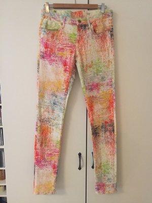 Außergewöhnliche bunte Skinny Jeans 28 low waist