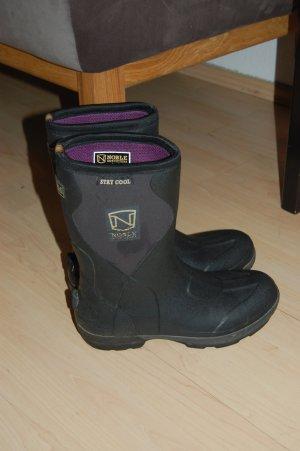 Wellington laarzen zwart-lila