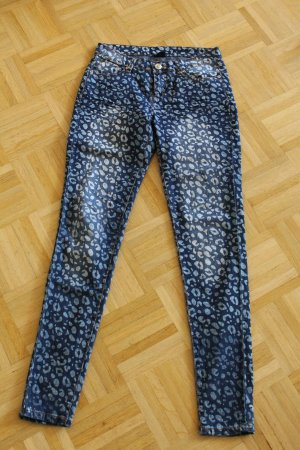 """Außergewöhnliche Jeans, Slimfit, im Leo-Look, Gr.38, Marke """"Max"""""""