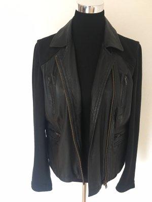 Außergewöhnliche Lederjacke von Liebeskind, schwarz, Gr. L
