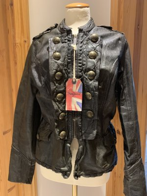 Pepe Jeans London Giacca in pelle nero Pelle