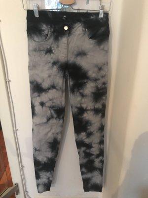 H&M Jeans skinny bianco-blu scuro