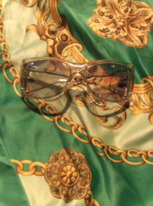 Gucci Glasses gold-colored synthetic material