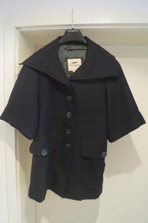 Burberry Wollen jas donkerblauw Scheerwol