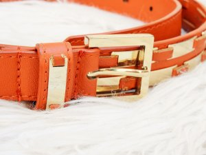 Faux Leather Belt orange-dark orange imitation leather