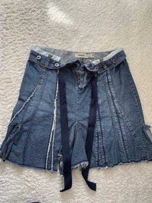 Mango Denim Skirt blue